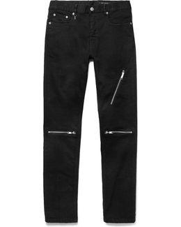 Slim-fit Zipped Stretch-denim Jeans
