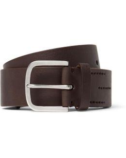 4cm Brown Leather Belt
