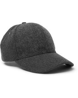 Herringbone Wool Baseball Cap