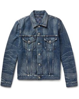 Melik Slim-fit Distressed Denim Jacket