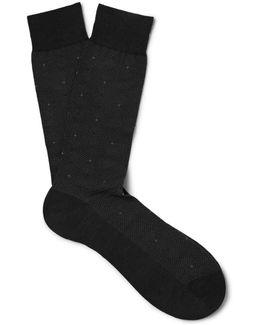 Malden Patterned Merino Wool-blend Socks