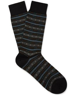 Fulwell Patterned Merino Wool-blend Socks