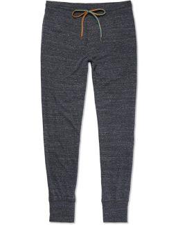 Slim-fit Tapered Mélange Cotton-blend Jersey Sweatpants