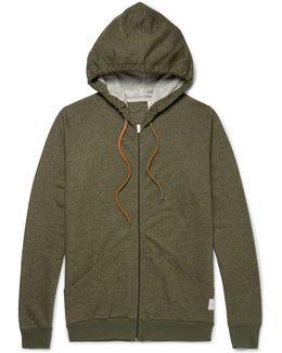 Mélange Cotton-jersey Zip-up Hoodie