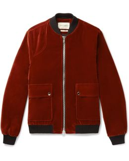 Bermondsey Cotton-velvet Bomber Jacket