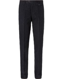Fishtail Pinstriped Virgin Wool Trousers