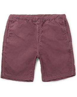 Garment-dyed Cotton-canvas Shorts