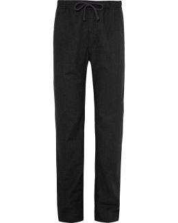 Slub Cotton-canvas Drawstring Trousers