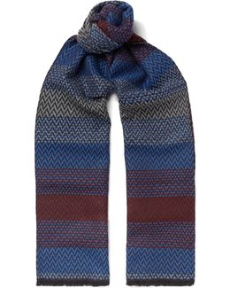 Zigzag-patterned Wool-jacquard Scarf