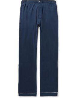 Marcel Piped Cotton-jersey Pyjama Trousers