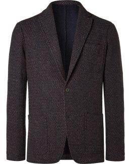 Navy Tod Wool-blend Blazer