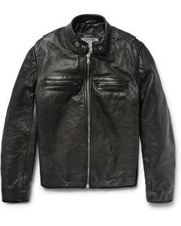 Full-grain Leather Café Racer Jacket