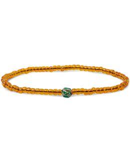 Glass Bead Enamelled Gold Bracelet
