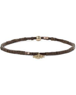 Hematite Bead Gold Bracelet