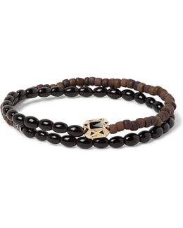 Glass Bead, Enamelled Gold And Diamond Wrap Bracelet