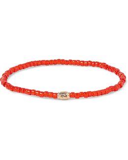 Glass Bead Gold Bracelet