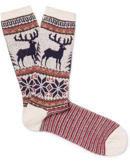 Jacquard-knit Socks