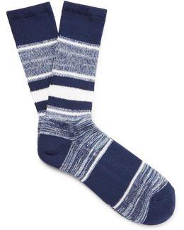 Striped Jacquard-knit Socks