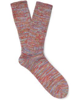 Mélange Knitted Socks