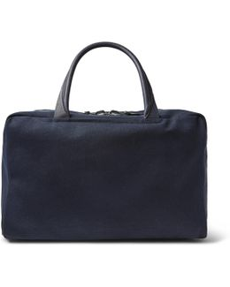 40 Leather-trimmed Canvas Holdall