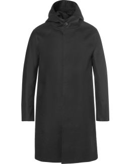 Wool-twill And Bonded-cotton Raincoat
