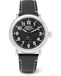 The Runwell 41mm Stainless Steel And Leather Watch