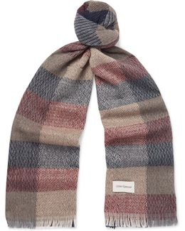 Kirkstall Checked Knitted Scarf