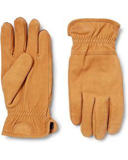 Ymer Fleece-lined Nubuck Gloves