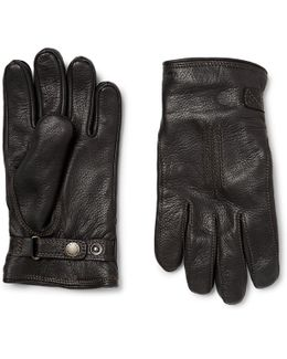 Shearling-lined Leather Gloves
