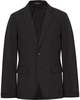 Black Philips Slim-fit Striped Cotton-blend Blazer
