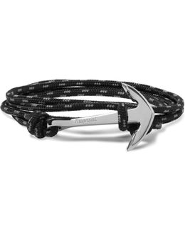 Anchor Cord Silver-plated Wrap Bracelet