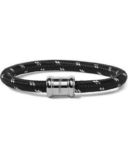 Single Casing Cord Stainless Steel Bracelet