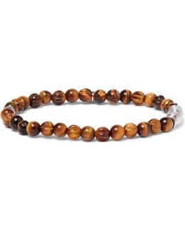 Tiger's Eye Sterling Silver Bracelet