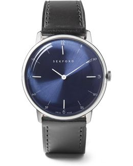 Type 1a Stainless Steel And Leather Watch