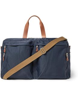 Harwick Leather-trimmed Canvas Holdall