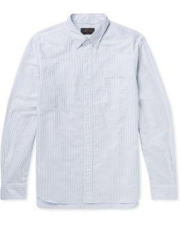 Button-down Collar Striped Cotton Shirt