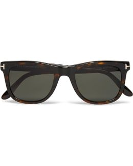 D-frame Tortoiseshell Acetate Polarised Sunglasses