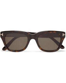 Snowdon Square-frame Tortoiseshell Acetate Sunglasses