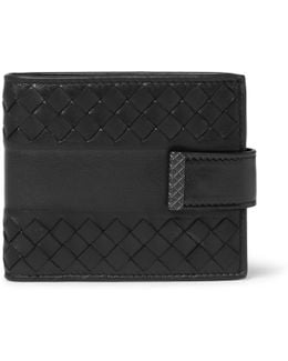 Intrecciato Leather Billfold Wallet