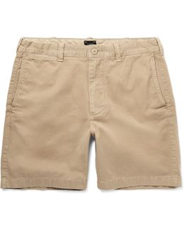 Stanton Garment-dyed Cotton-twill Shorts
