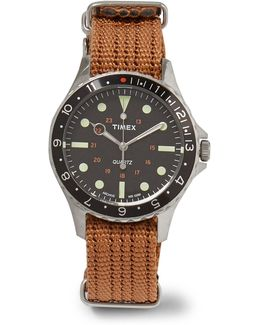 Navi Harbor Stainless Steel And Webbing Watch