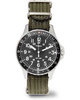 Navi Ocean Stainless Steel And Webbing Watch