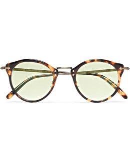 Op-505 Round-frame Tortoiseshell Acetate And Gold-tone Sunglasses