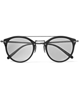 Remick Round-frame Acetate And Gunmetal-tone Sunglasses