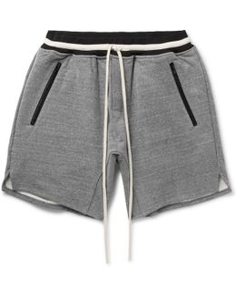 Loopback Cotton-blend Jersey Drawstring Shorts