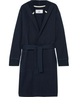 Loopback Cotton-jersey Hooded Robe