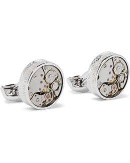 Skeleton Rhodium-plated Cufflinks