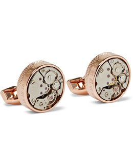 Skeleton Rose Gold-plated Cufflinks
