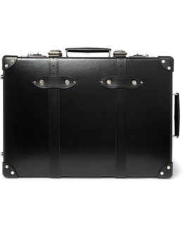 "20"" Leather-trimmed Suitcase"