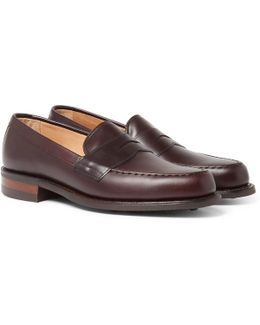 Howard R Leather Penny Loafers